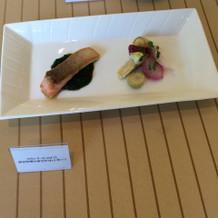 フェアーでの料理の展示品