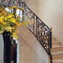 入口を入ったらある螺旋階段