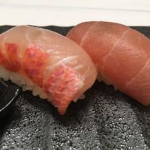 金目鯛のお寿司初めて