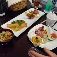 式後の料理に最後まで大満足でした。