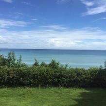 美しい海が見渡せました