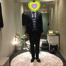 新郎洋装、6着ほど試着