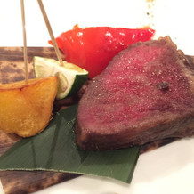 牛ロース肉の西京味噌焼