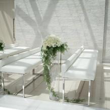 挙式場のお花はアートフラワーでした
