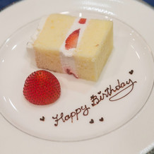 お誕生日の方のデザートプレート☆