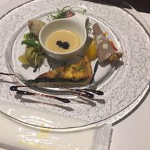 前菜 お野菜がとても美味しかったです。