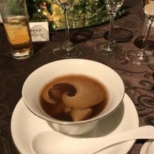 きのことフカヒレのスープは絶品です