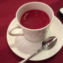 赤いスープ!