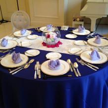 テーブルセットが可愛い