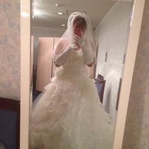 ドレスを着せていただいた後