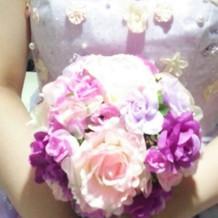 カラードレスのブーケ