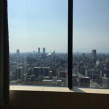 会場の窓から見た景色。