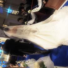 挙式で映える素敵なドレス