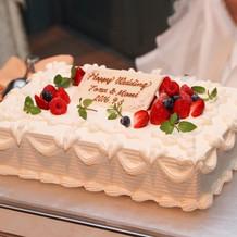二次会のウェディングケーキ
