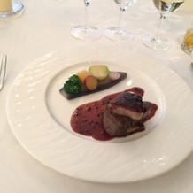 フォアグラとお肉。