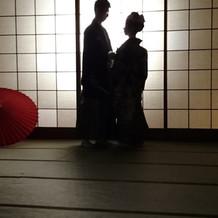 和室で前撮り