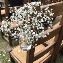 挙式の装花可愛かったです