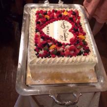ウェディング生ケーキ