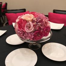 披露宴会場。装花。