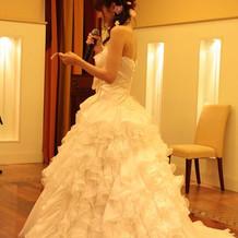 とても可愛らしいドレスです。