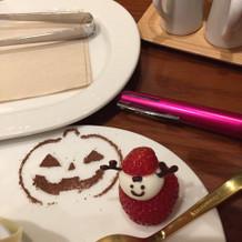 ハロウィンがテーマのデザート。