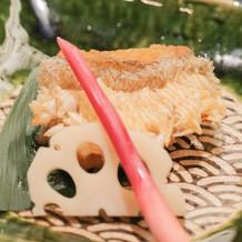 鯛の松かさ焼き