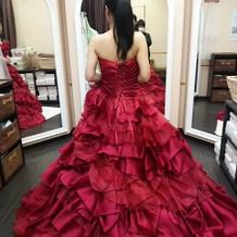 カラードレス♪試着。
