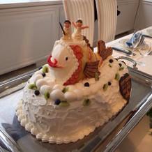 フルーツ鱗のタイケーキ