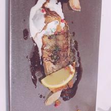 試食のお魚料理