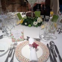テーブル装花&ナプキンペッパーの飾り