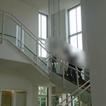 2階は新郎新婦の控え室