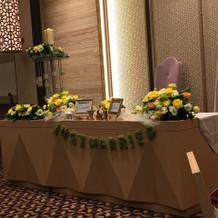 高砂!プラン内装花に小物を持込、装飾