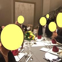テーブルコーデ♪ボルドーナフキン、バラ折