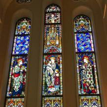 教会で実際に使われていたステンドグラス