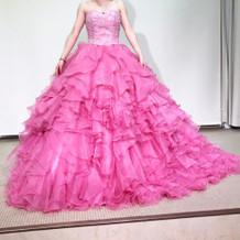 ピンクで可愛かったです。