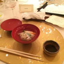 和食コースお吸い物
