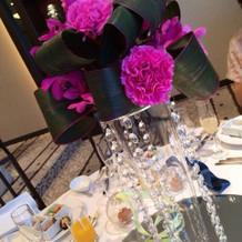 ゲストテーブル装飾です