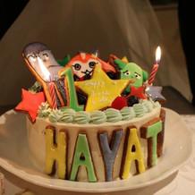 子どもの1歳誕生日もお祝いしてくれました