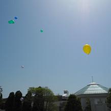 空へ飛んでく風船