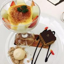 洋食コースのデザート☆