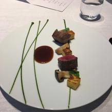 信州牛と地元のお野菜。