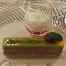 ピスタチオのケーキが美味しかったです