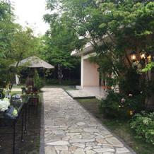 ガーデンも素敵!