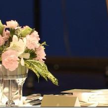 ゲスト席プラン内装花