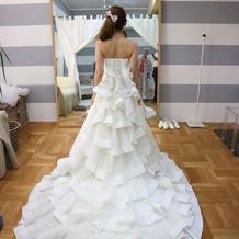 後ろ姿がすごく好みのドレス