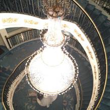 3階から見たシャンデリア