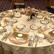パッピープラン内テーブルセット