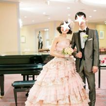お気に入りのカラードレスとタキシード