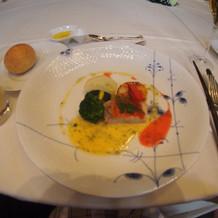 キンメダイと帆立貝のソテー