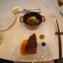 A5黒毛和牛のロティと彩り野菜